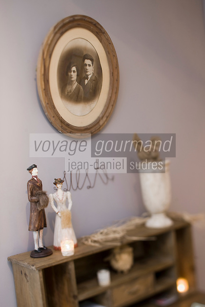 Europe/France/Aquitaine/24/Dordogne/Lamonzie-Montastruc: Maison d'Hôte: Le Moulin de Peychenval -Détail d'une chambre