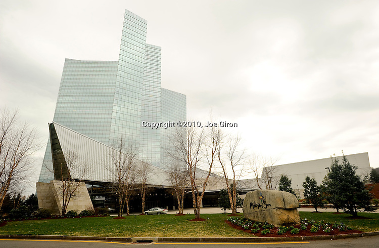 A view of the exterior of the Mohegan Sun Hotel and Casino which is hosting the North American Poker Tour.