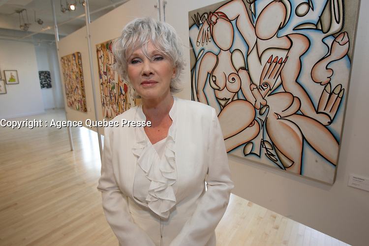 August 16 2012 - Montreal (QC) CANADA - Singer and artist Diane Dufresne exhibit her latest paintings in Montreal.