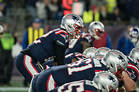 FOXBORO, MA - OCTOBER 10: New England Patriots Quarterback Tom Brady (12) ready for the snap during a game between New York Giants and New England Patriots at Gillettes on October 10, 2019 in Foxboro, Massachusetts.