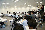 General view, SEPTEMBER 29, 2015 : The first meeting of the Tokyo 2020 Emblem Selection Committee is held in Tokyo, Japan. This committee initiated the selection of the new Olympic and Paralympic Games emblems. (Photo by Yohei Osada/AFLO SPORT)