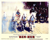 Ben-Hur (1959) <br /> Lobby card with Charlton Heston<br /> *Filmstill - Editorial Use Only*<br /> CAP/KFS<br /> Image supplied by Capital Pictures