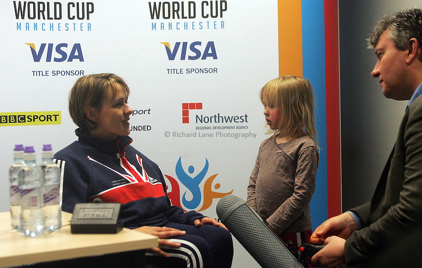 Photo: Paul Thomas..VISA Paralympic World Cup 2007. Athletics. 13/05/2007...Dame Tanni Grey-Thompson of Great Britain holds her last ever press conference as she retires from racing.