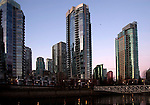 Tower blocks, English bay,Vancouver,British Colombia, Canada