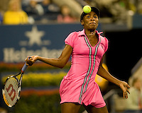 Venus Williams (USA) (3) against  Vera Dushevina (RUS ) in the first round. Williams beat Dushevina 6-7 7-5 6-3..International Tennis - US Open - Day 1 Mon 31 Aug 2009 - USTA Billie Jean King National Tennis Center - Flushing - New York - USA ..Frey,  Advantage Media Network, Barry House, 20-22 Worple Road, London, SW19 4DH
