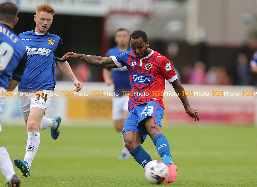 Ashley Hemmings of Dagenham during Dagenham and Redbridge vs Stevenage, Sky Bet League 2 Football at the London Borough of Barking and Dagenham Stadium, London, England on 29/08/2015