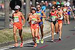 (L to R) <br /> Kayoko Fukushi, <br /> Tomomi Tanaka, <br /> Mai Ito (JPN), <br /> AUGUST 14, 2016  - Marathon : <br /> Women's Marathon <br /> at Sambodromo <br /> during the Rio 2016 Olympic Games in Rio de Janeiro, Brazil. <br /> (Photo by YUTAKA/AFLO SPORT)