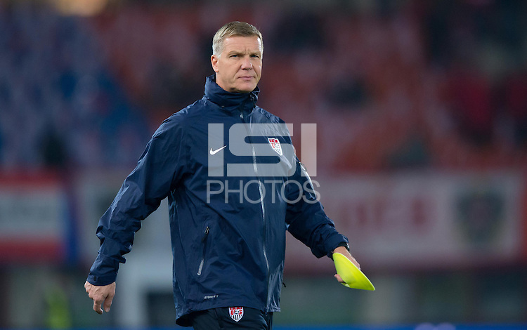 VIENNA, Austria - November 19, 2013: Chris Woods during a 0-1 loss to host Austria during the international friendly match between Austria and the USA at Ernst-Happel-Stadium.