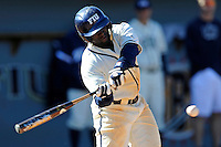 28 February 2010:  FIU's Lammar Guy (42) bats in the seventh inning as the FIU Golden Panthers defeated the Oral Roberts Golden Eagles, 7-6 (10 innings), at University Park Stadium in Miami, Florida.