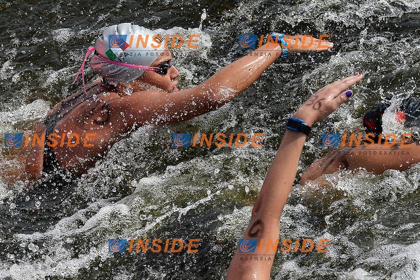 Martina Grimaldi Italia <br /> Open Water 25Km <br /> 32nd LEN European Championships  <br /> Berlin, Germany 2014  Aug.13 th - Aug. 24 th<br /> Day05 - Aug. 17<br /> Photo Andrea Staccioli/Deepbluemedia/Insidefoto