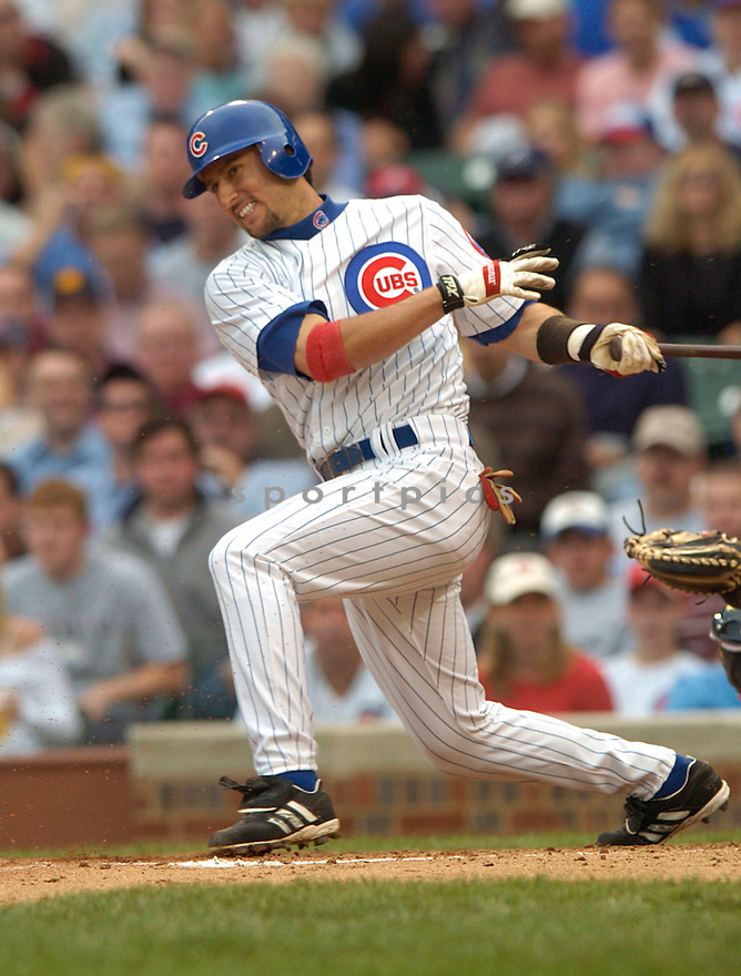 Nomar Garciaparra during a Chicago Cubs game 2004...David Durochik / SportPics