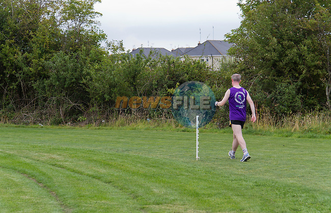 And he's off; Gerard begins his walk..Picture: Shane Maguire / www.newsfile.ie.