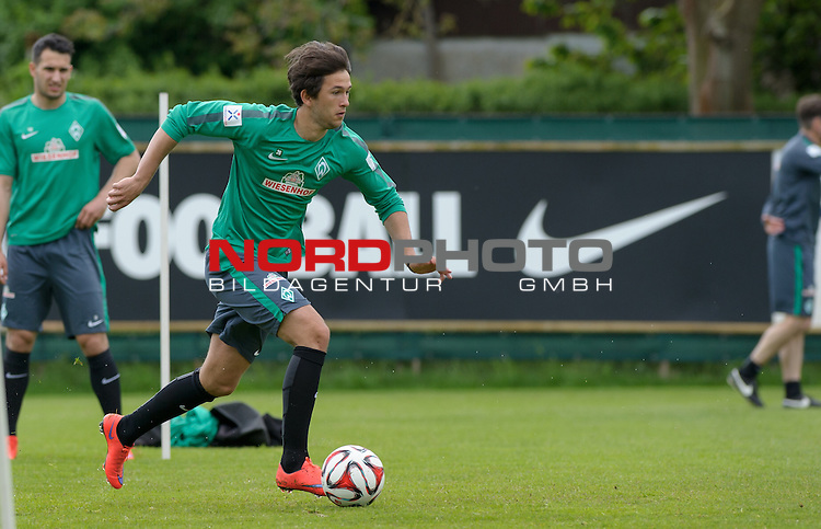 13.05.2015, Trainingsgelaende, Bremen, GER, 1.FBL, Training Werder Bremen, im Bild Julian von Haacke (Bremen #26)<br /> <br /> Foto &copy; nordphoto / Frisch