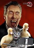 Fabrizio, Comics, CUTE ANIMALS, LUSTIGE TIERE, ANIMALITOS DIVERTIDOS,Dracula, paintings+++++,ITFZ59,#AC#, EVERYDAY ,humor