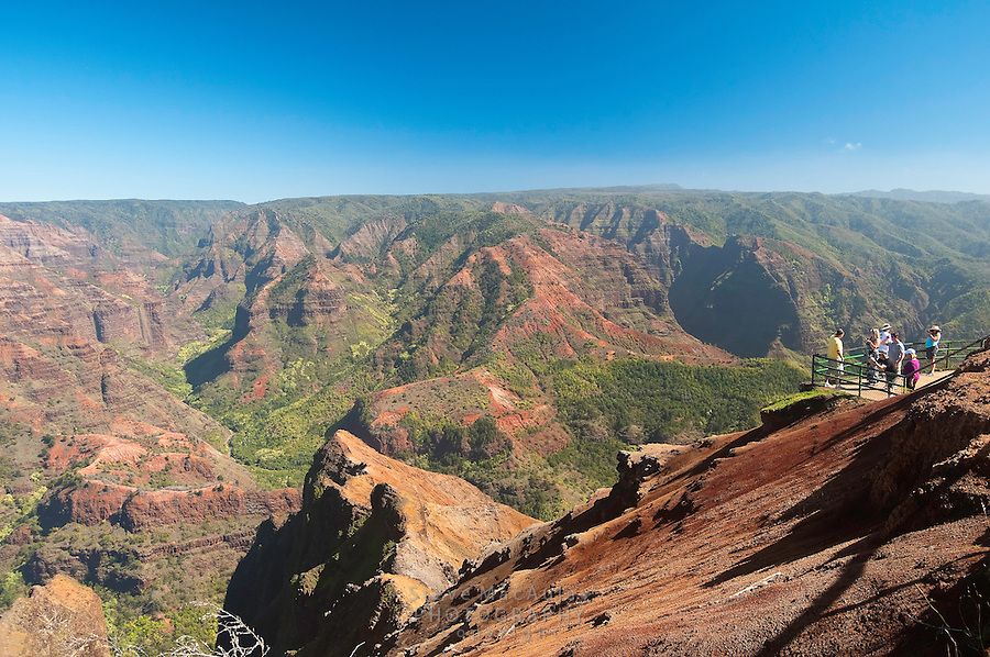 Scenic view of Waimea Canyon, Kauai, Hawaii