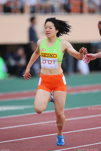 Anna Doi, <br /> MAY 11, 2014 - Athletics : <br /> IAAF World Challenge <br /> Seiko Golden Grand Prix 2014 Tokyo <br /> Women's 100m Final <br /> at National Stadium, Tokyo, Japan. <br /> (Photo by YUTAKA/AFLO SPORT)