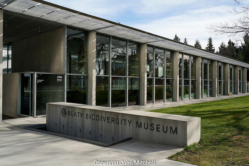 The Beaty Biodiversity Museum at the University of British Columbia, Vancouver, BC, Canada