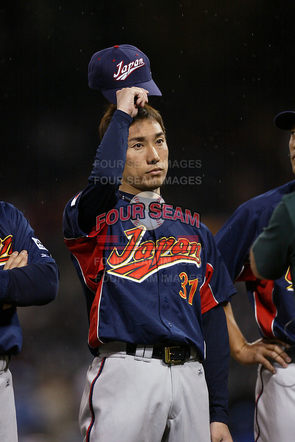 Shunsuke Watanabe of Japan during World Baseball Championship at Petco Park in San Diego,California on March 18, 2006. Photo by Larry Goren/Four Seam Images