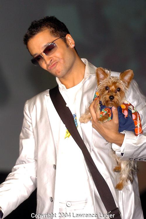 Jai Rodriguez and his yorkies Nemo and Dory