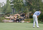 August 4, 2012:  Stuart Appleby from Victoria, Australia putts on the 7th green during the third round of the 2012 Reno-Tahoe Open Golf Tournament at Montreux Golf & Country Club in Reno, Nevada.