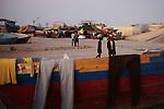 ZANZUR, Libya 9th September 2011:..Clothes drying on a boat in Zanzur. ..Ayman Oghanna
