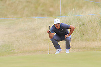 Thorbjorn Olesen (DEN) at the 2nd green during Saturday's Round 3 of the 2018 Dubai Duty Free Irish Open, held at Ballyliffin Golf Club, Ireland. 7th July 2018.<br /> Picture: Eoin Clarke | Golffile<br /> <br /> <br /> All photos usage must carry mandatory copyright credit (&copy; Golffile | Eoin Clarke)