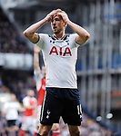 Harry Kane of Tottenham Hotspur during the English Premier League match at the White Hart Lane Stadium, London. Picture date: April 30th, 2017.Pic credit should read: Robin Parker/Sportimage
