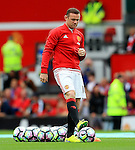 Wayne Rooney of Manchester United warms up during the Premier League match at Old Trafford Stadium, Manchester. Picture date: September 24th, 2016. Pic Sportimage