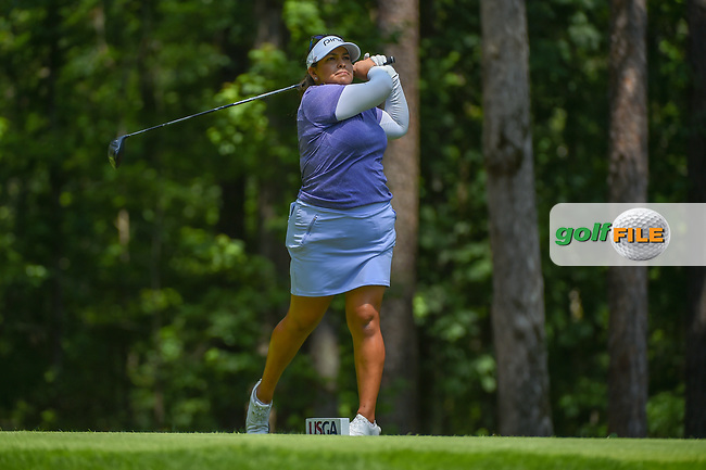 Lizette Salas (USA) watches her tee shot on 2 during round 4 of the U.S. Women's Open Championship, Shoal Creek Country Club, at Birmingham, Alabama, USA. 6/3/2018.<br /> Picture: Golffile | Ken Murray<br /> <br /> All photo usage must carry mandatory copyright credit (© Golffile | Ken Murray)