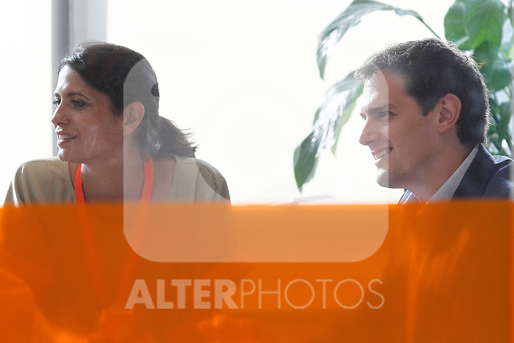 Ciudadanos (Citizens) party leader Albert Rivera meeting with his team after learning the final general elections results. June 26,2016. (ALTERPHOTOS/Acero)