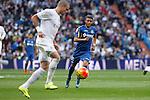 Real Madrid´s Pepe (L) and Getafe´s Wanderson during La Liga match at Santiago Bernabeu stadium in Madrid, Spain. December 05, 2015. (ALTERPHOTOS/Victor Blanco)