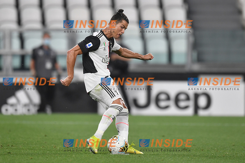Cristiano Ronaldo of Juventus scores a goal <br /> during the Serie A football match between Juventus FC and US Lecce at Juventus stadium in Turin  ( Italy ), June 26th, 2020. Play resumes behind closed doors following the outbreak of the coronavirus disease. Photo Andrea Staccioli / Insidefoto