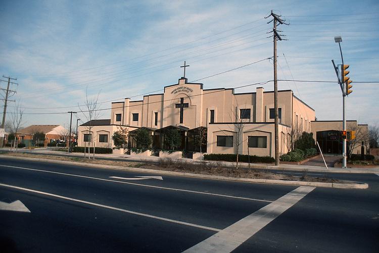 1992 January ..Redevelopment.Huntersville 1&2 (R-70)..UNITED HOUSE OF PRAYER.FRONT EXTERIOR FROM CHURCH STREET...NEG#.NRHA#..