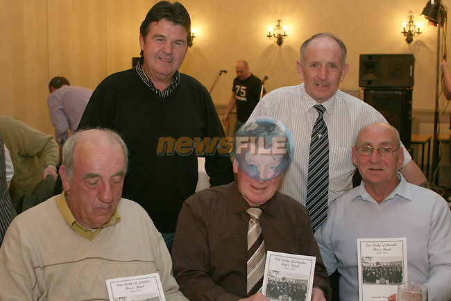 Past Members of the Lourdes Brass Band Tom Skelly, Ken Brady, Ray McCormack, Ray White and Seamus Brady in the Westcourt Hotel. ..Photo NEWSFILE/Jenny Matthews.(Photo credit should read Jenny Matthews/NEWSFILE)....This Picture has been sent you under the condtions enclosed by:.Newsfile Ltd..The Studio,.Millmount Abbey,.Drogheda,.Co Meath..Ireland..Tel: +353(0)41-9871240.Fax: +353(0)41-9871260.GSM: +353(0)86-2500958.email: pictures@newsfile.ie.www.newsfile.ie.FTP: 193.120.102.198.