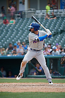 Midland RockHounds Luis Barrera (22) bats during a Texas League game against the Frisco RoughRiders on May 22, 2019 at Dr Pepper Ballpark in Frisco, Texas.  (Mike Augustin/Four Seam Images)