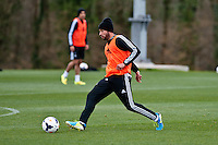 Thursday 20 March 2014<br /> Pictured: Jazz Richards<br /> Re: Swansea City Training at their Fairwood training facility, Swansea, Wales,UK