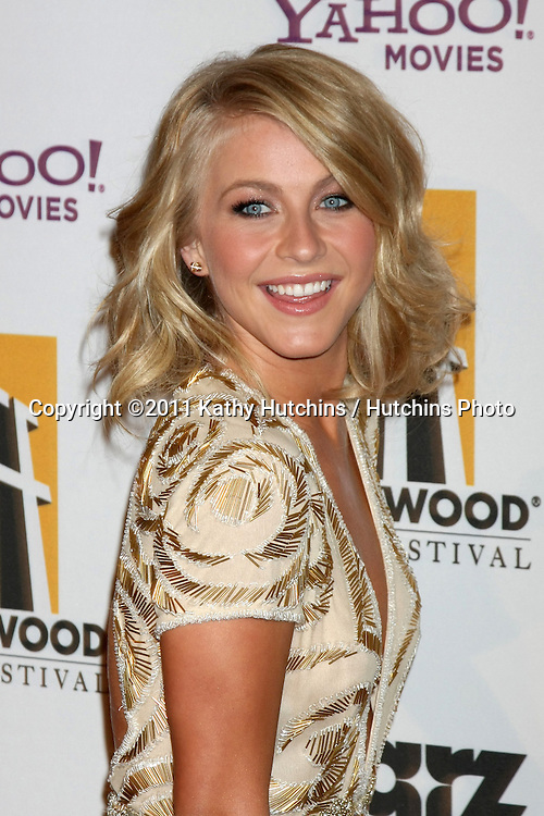 LOS ANGELES - OCT 24:  Julianne Hough arriving at the 15th Annual Hollywood Film Awards Gala at Beverly Hilton Hotel on October 24, 2011 in Beverly Hllls, CA