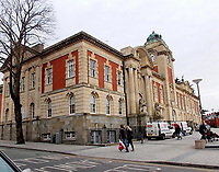Pictured: Barry Town Hall, Wales, UK. STOCK PICTURE<br /> Re: Tim Martin, the owner of Wetherspoon has clashed with council officials after the town's coat of arms was used on a pub carpet in Barry, south Wales, UK.<br /> The Town Council has demanded that the new carpet at the Sir Samuel Romilly pub to be removed.<br /> The carpet was fitted in in the Vale of Glamorgan seaside town pub during a £715,000 revamp.<br /> The case could be the first heard at the Court of Chivalry -set up in the 14th Century to settle coat of arms disputes- in more than 60 years.<br /> The court last sat in 1954.