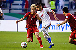 Ahmad Ersan of Jordan (R) fights for the ball with Nguyen Van Toan of Vietnam (L) during the AFC Asian Cup UAE 2019 Round of 16 match between Jordan (JOR) and Vietnam (VIE) at Al Maktoum Stadium on 20 January 2019 in Dubai, United Arab Emirates. Photo by Marcio Rodrigo Machado / Power Sport Images
