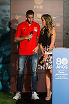 Rudy Fernandez and Marta Fernandez during the 80th Aniversary of the National Basketball Team at Melia Castilla Hotel, Spain, September 01, 2015. <br /> (ALTERPHOTOS/BorjaB.Hojas)