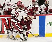 Dani Krzyszczyk (Harvard - 10), Megan Keller (BC - 4) - The visiting Boston College Eagles defeated the Harvard University Crimson 2-0 on Tuesday, January 19, 2016, at Bright-Landry Hockey Center in Boston, Massachusetts.