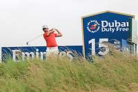Mike Lorenzo-Vera (FRA) on the 15th tee during the 3rd round of the Dubai Duty Free Irish Open, Lahinch Golf Club, Lahinch, Co. Clare, Ireland. 06/07/2019<br /> Picture: Golffile | Thos Caffrey<br /> <br /> <br /> All photo usage must carry mandatory copyright credit (© Golffile | Thos Caffrey)