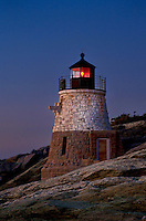 Castle Hill lighthouse, Newport, RI, Rhode Island, USA
