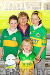 Kerry supporters at the Kerry Senior Football Team Media day at Fitzgerald Stadium on Saturday From Left Kirby Anne Ryan, Martina Ryan, Fionna?n Ryan Ciara Ryan (Killarney).