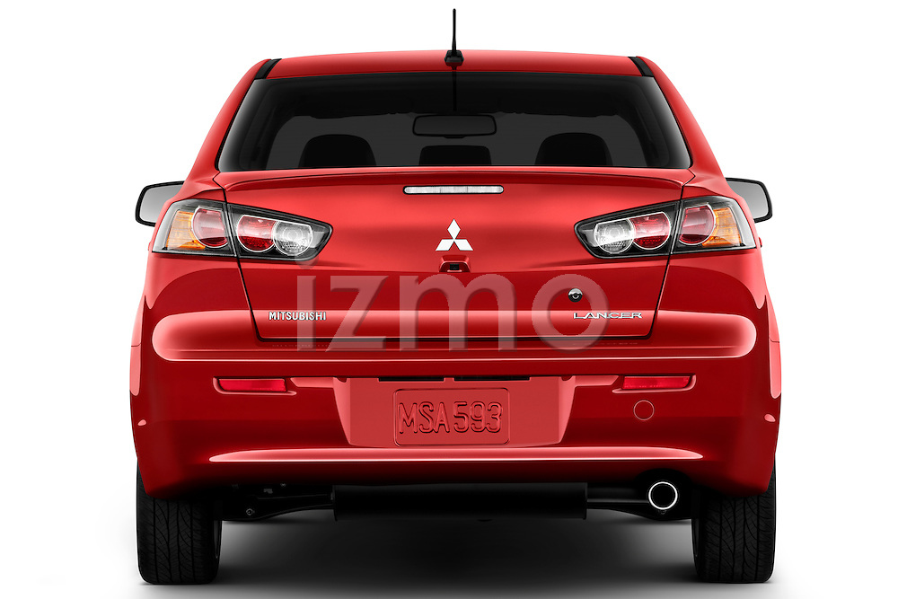 Straight rear view of a 2012 Mitsubishi Lancer GT Touring