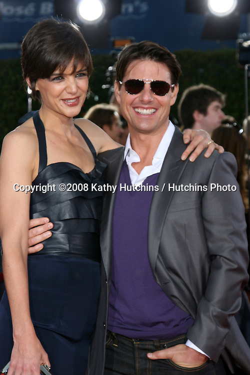 "Katie Holmes & Tom Cruise   arriving at .""Tropic Thumder"" Premiere at the Mann's Village Theater in Westwood, CA.August 11, 2008.©2008 Kathy Hutchins / Hutchins Photo...."