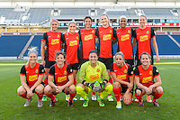 Bridgeview, IL, USA - Saturday, April 23, 2016: Starting XI for the Western New York Flash in a match against the Chicago Red Stars during a regular season National Women's Soccer League match at Toyota Park. Chicago won 1-0.