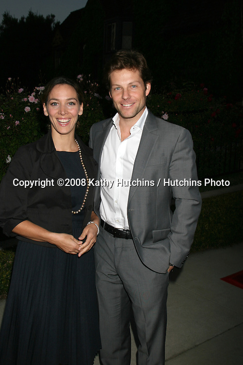 Jamie Bamber & Wife.BritWeek  2008.British Counsul General's Residence.Los Angeles, CA.April 24, 2008.©2008 Kathy Hutchins / Hutchins Photo