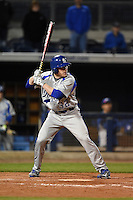 Indiana State Sycamores outfielder Tony Rosselli (32) at bat during a game against the Vanderbilt Commodores on February 20, 2015 at Charlotte Sports Park in Port Charlotte, Florida.  Vanderbilt defeated Indiana State 3-2.  (Mike Janes/Four Seam Images)