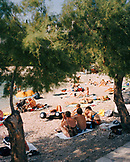 CROATIA, Hvar, Dalmatian Coast, Island, group of people relaxing on Dalmatian coast island
